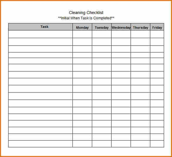 10+ Blank Checklist Template | Job Resumes Word with regard to Blank Checklist Template For Teachers 19091