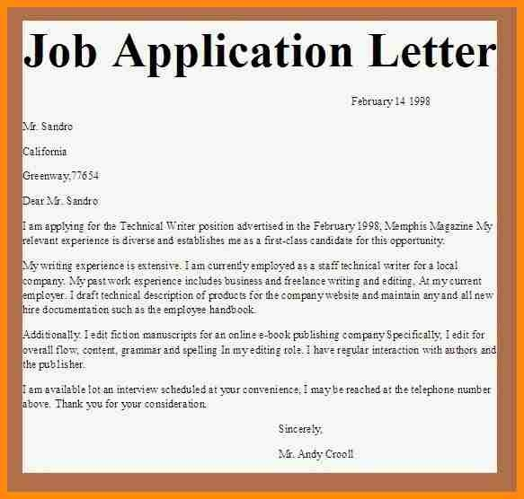 10+ Sample Of Application Letter For Job Vacancy Pdf | Model Resumed intended for Application Letter For Job Vacancy Format 23256