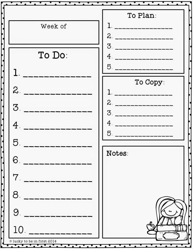 119 Best Teacher To-Do Lists Images On Pinterest | Free Printable for Teacher Weekly To Do List 21631