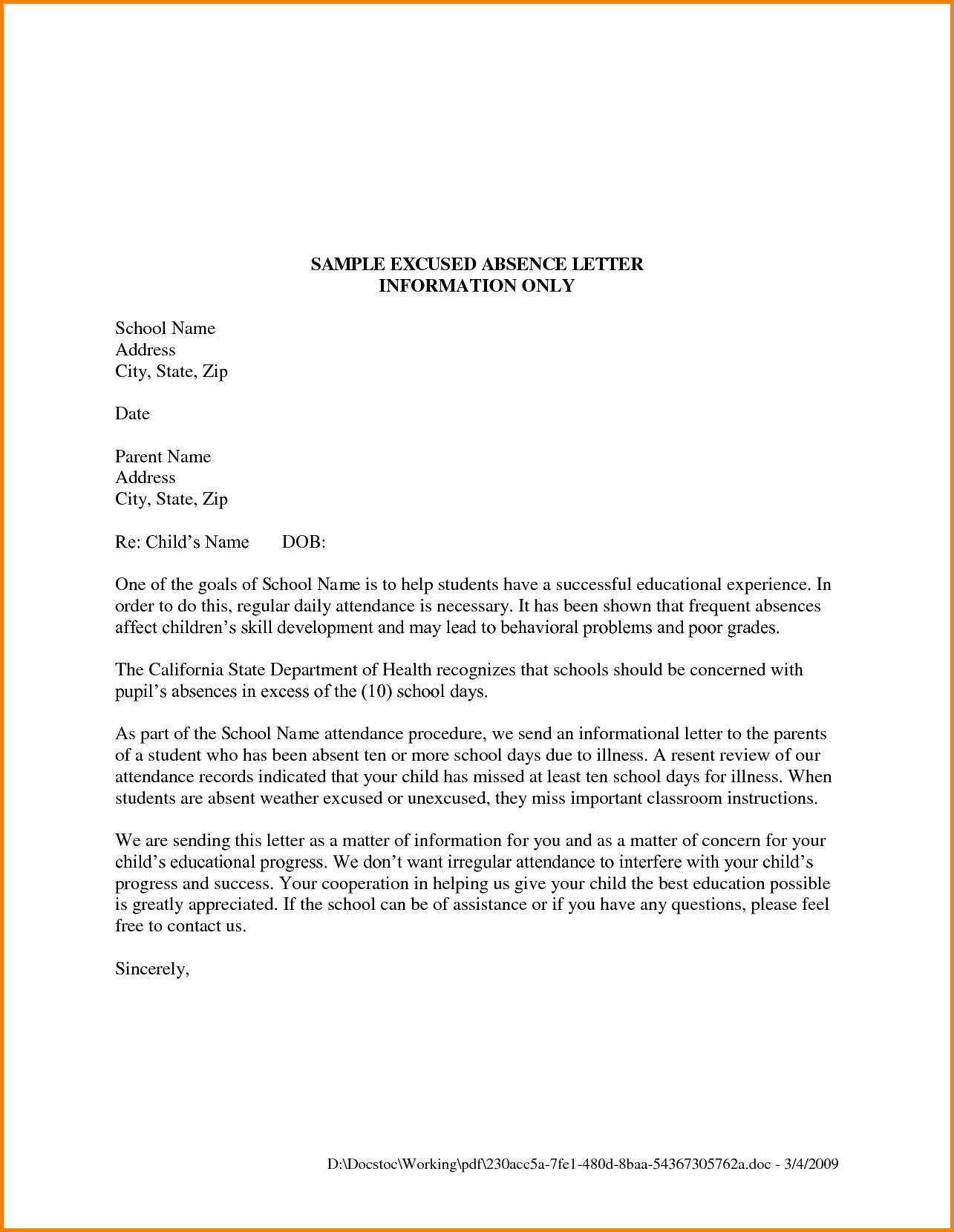 12+ Formal Letter Format For School | Legal Resumed within Formal Letter Format For School 21731