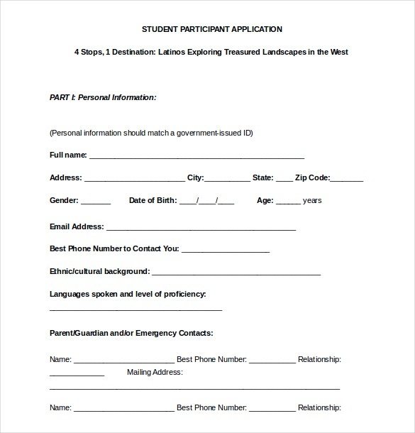 15+ College Application Templates – Free Sample, Example, Format for Application Format For Students 23376