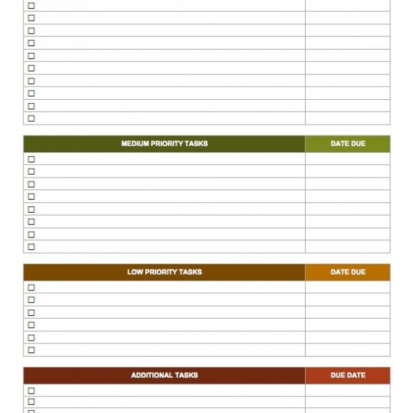 15 free task list templates smartsheet in weekly work to do list template
