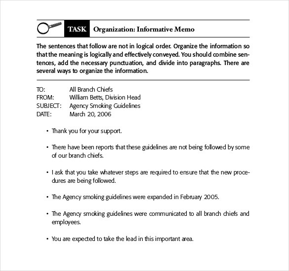 21+ Business Memo Templates – Free Sample, Example, Format throughout Memo Format Examples 22594
