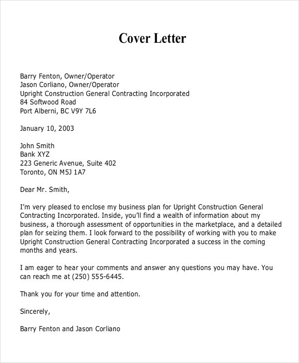 21+ Business Proposal Letter Examples with Business Proposal Cover Letter Format 22384