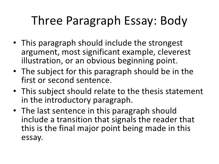 3 Body Paragraph Examples | World Of Example intended for 3 Body Paragraph Examples 18712