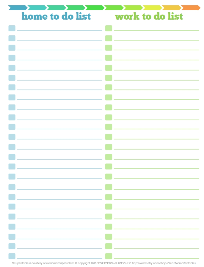 3 Free Printable To Do Lists To Jumpstart Your Productivity intended for Free Printable To Do List 22844