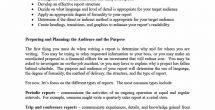 Business Report Format Template