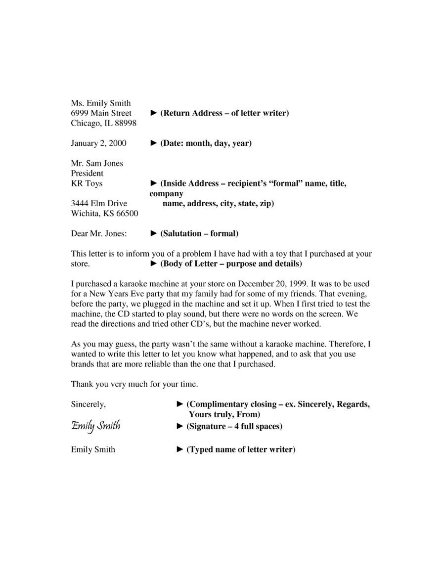 35 Formal / Business Letter Format Templates & Examples - Template Lab inside Formal Business Letter Format Template 22364
