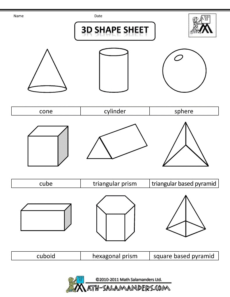3D-Geometric-Shapes-Sheet-Bw.gif 790×1,022 Pixels | Lesson with regard to 2D Geometric Shapes Chart 19321