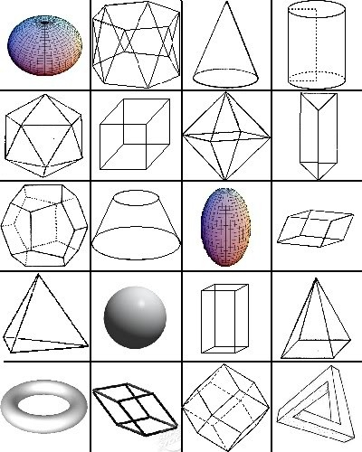 3D Geometric Solids Quiz - By Ryanlucas regarding 3D Geometric Shapes And Names 19433