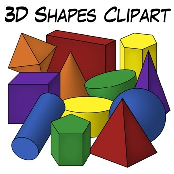 3D Shape Of A Volume Of Clipart inside 3D Shapes Clip Art 19543