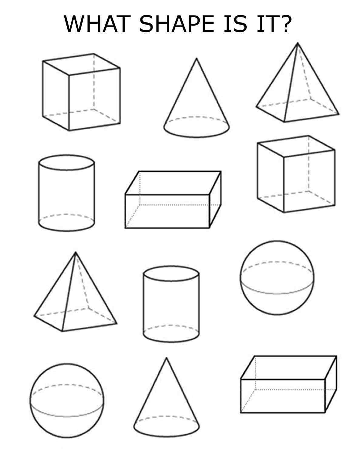 3D Shapes Clip Art Black And White | World Of Example throughout 3D Shapes Clip Art Black And White 19553