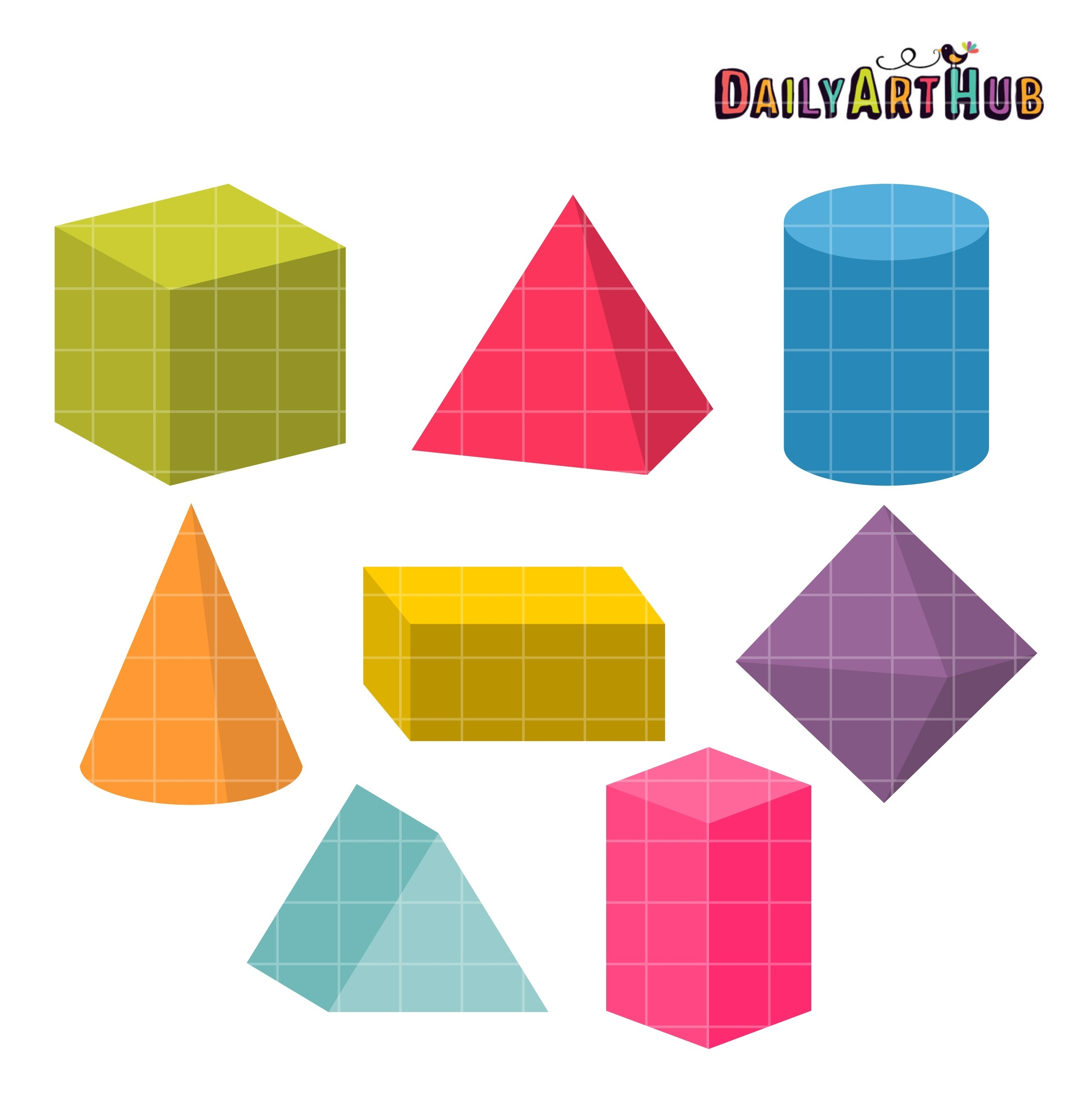 3D Shapes Clip Art Set – Daily Art Hub – Free Clip Art Everyday inside 3D Shapes Clip Art 19543