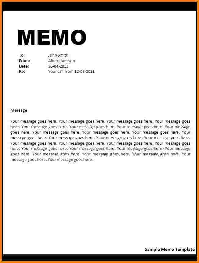 4 Word Memo Template | Receipt Templates intended for Memo Format Word 22394