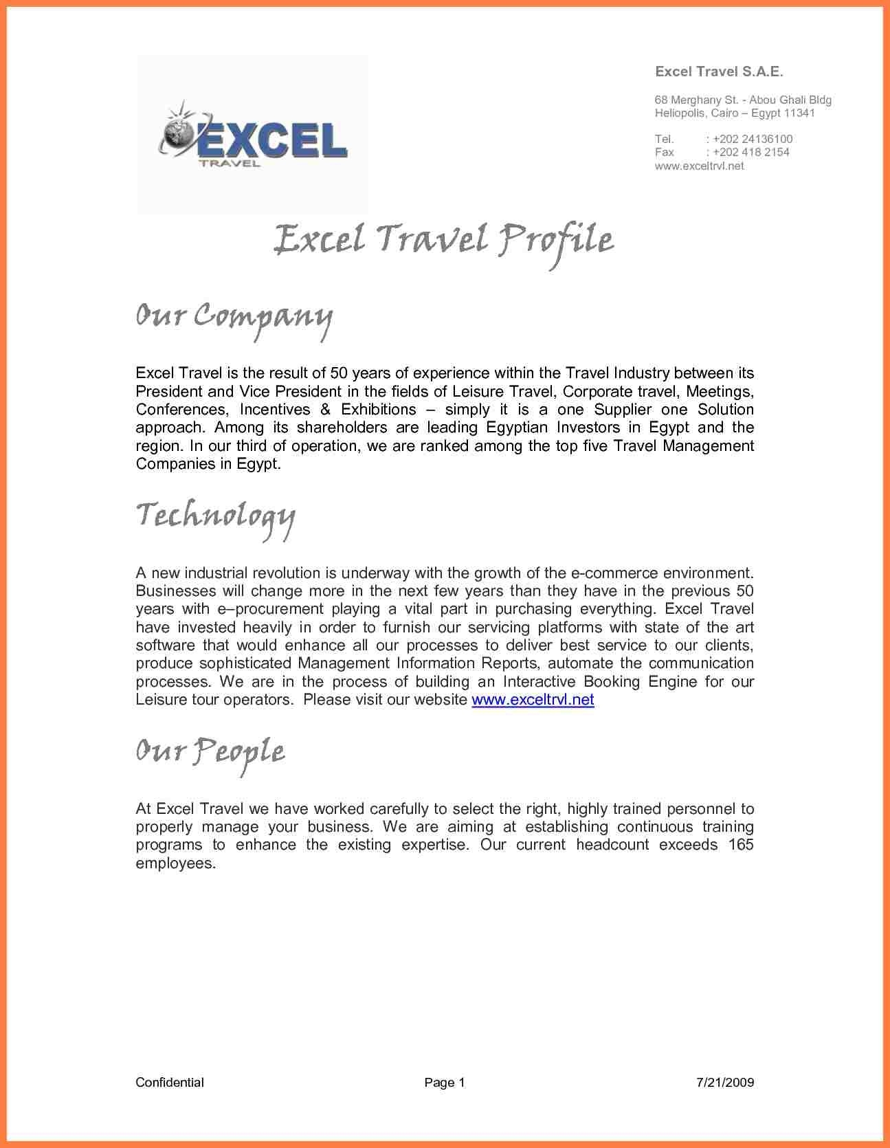 5+ Sample It Company Profile | Company Letterhead intended for Sample Profile Image 19896