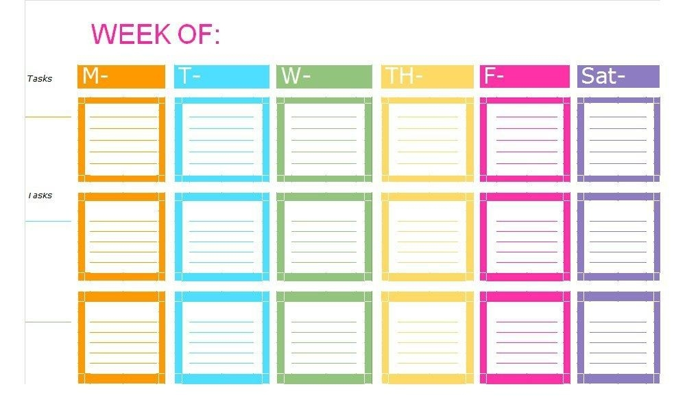 weekly checklist template examples and forms