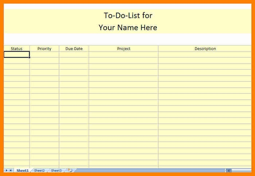 6+ Business Printable To Do List | Cover Title Page regarding Business Printable To Do List 21561