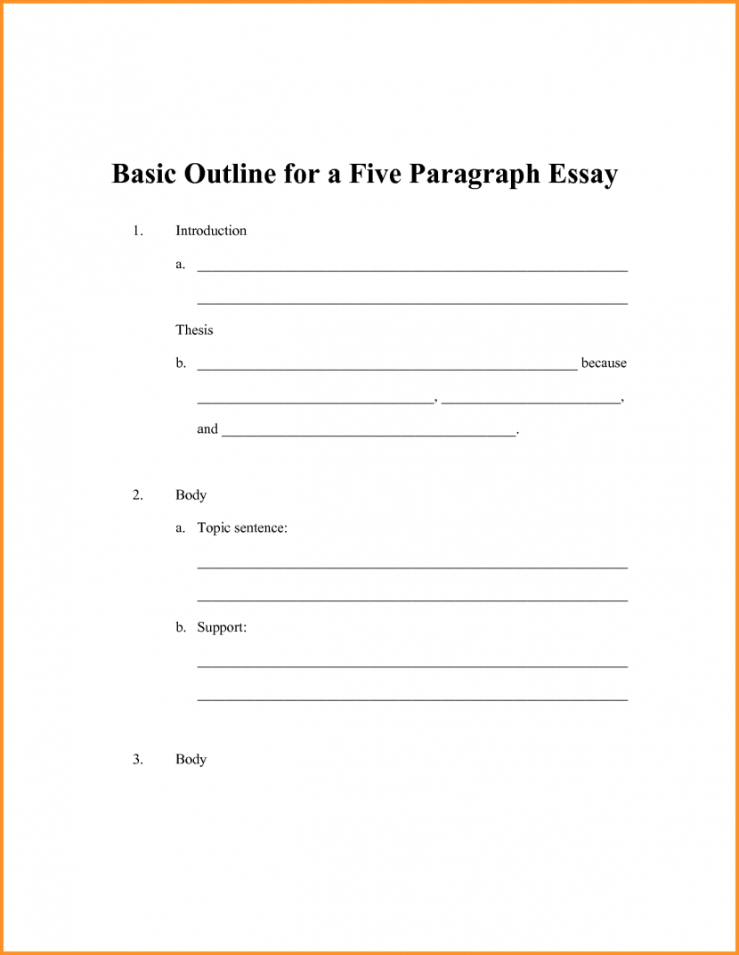 6 Simple Outline Format Cook Resume For 5 Paragraph Essay Template with 5 Paragraph Essay Outline Format 19593