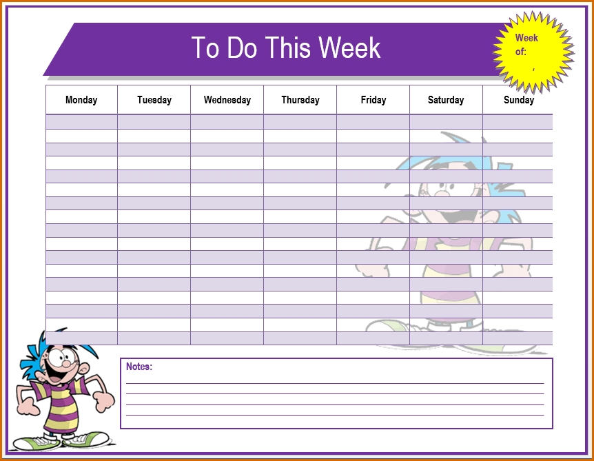 6+ To Do List Template Word | Authorizationletters within To Do List Template For Word 22744