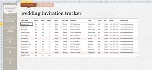7 Free Wedding Guest List Templates And Managers regarding Wedding Guest List Template Excel 24232