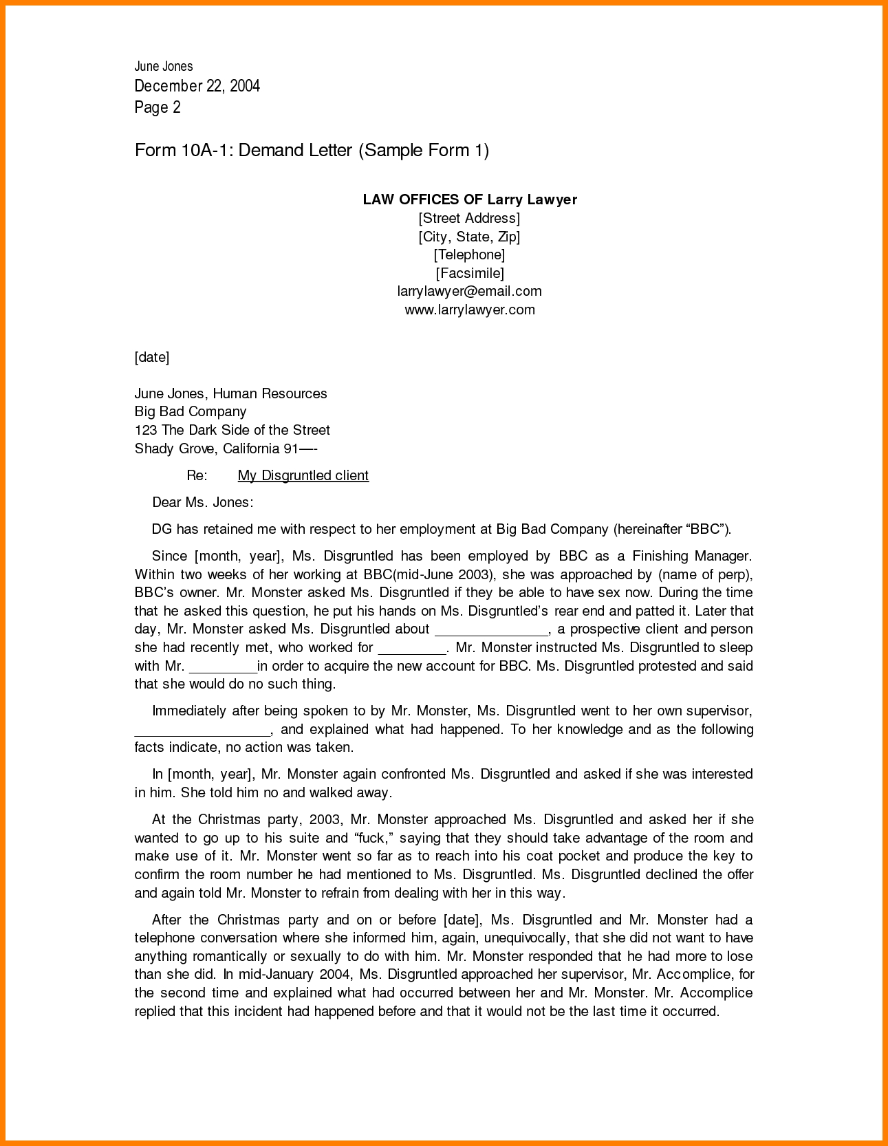 7+ Legal Demand Letter Format | Ledger Paper regarding Formal Legal Letter Format 23356