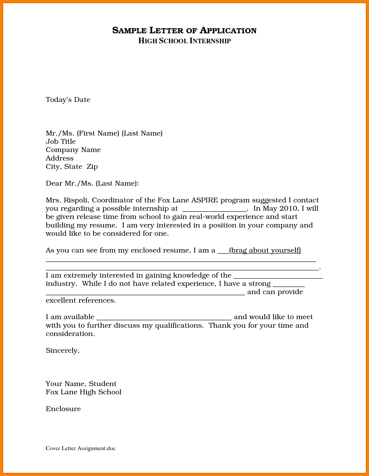 7+ Letter To A School Sample | Letter Format For in Application Letter Format For School 23055