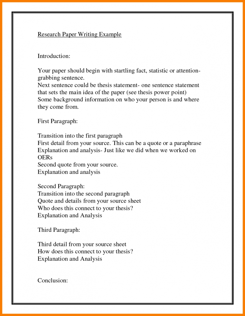 how to write an analysis paragraph example