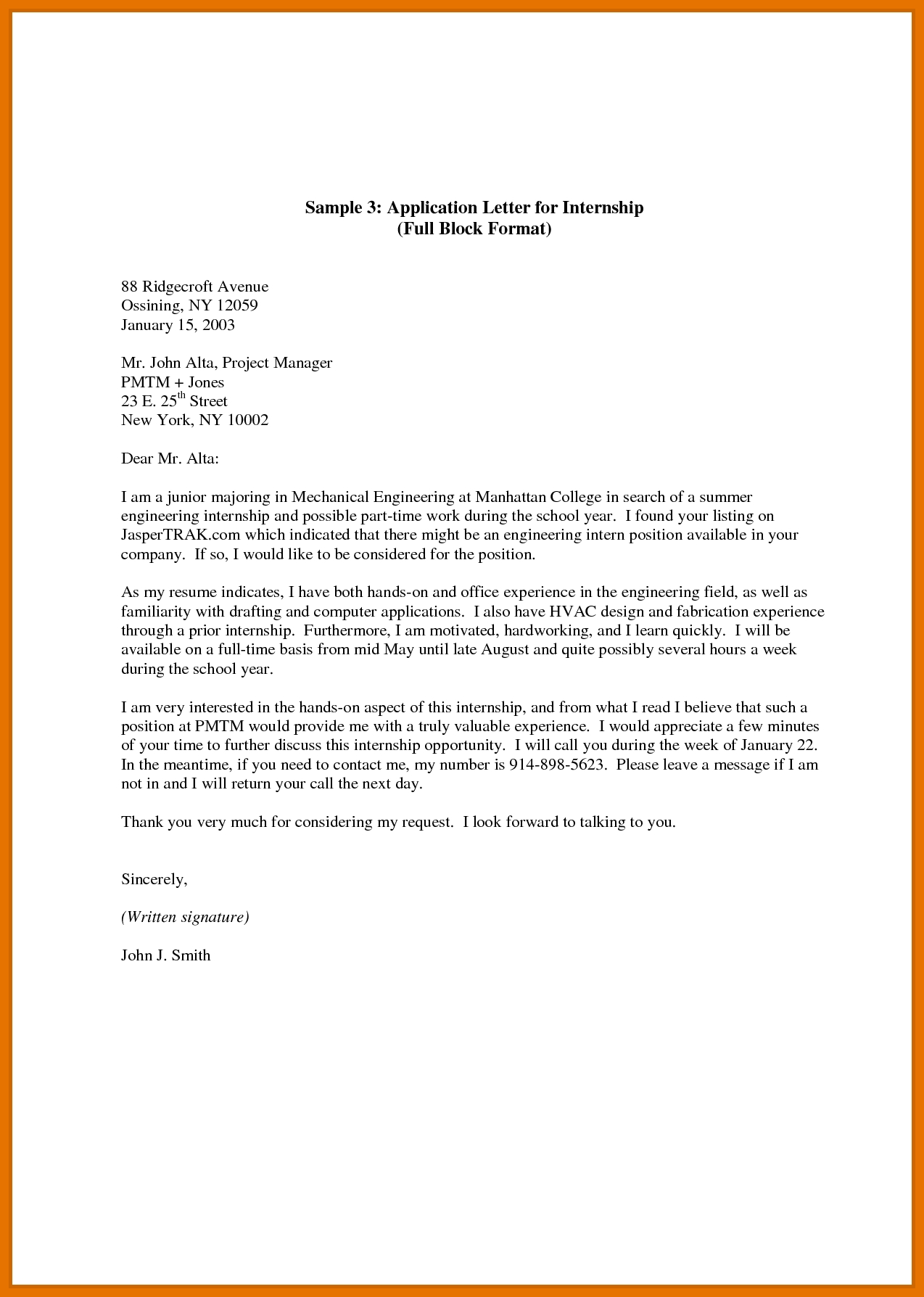 9+ Application Letter For It Students | Texas Tech Rehab Counseling throughout Application Format For Students 23376