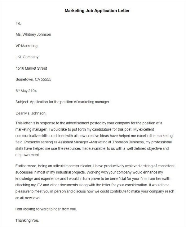 90+ Free Application Letter Templates | Free & Premium Templates throughout Job Application Letter Format 23486