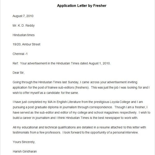 90+ Free Application Letter Templates | Free & Premium Templates with regard to Application Letter Format