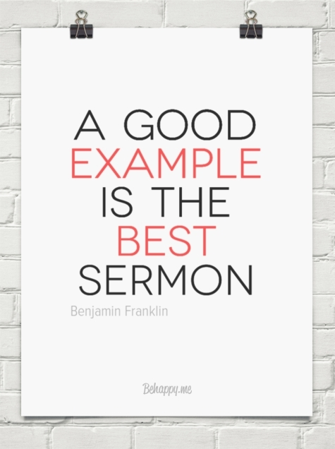 A Good Example Is The Best Sermon | World Of Example regarding A Good Example Is The Best Sermon 18741