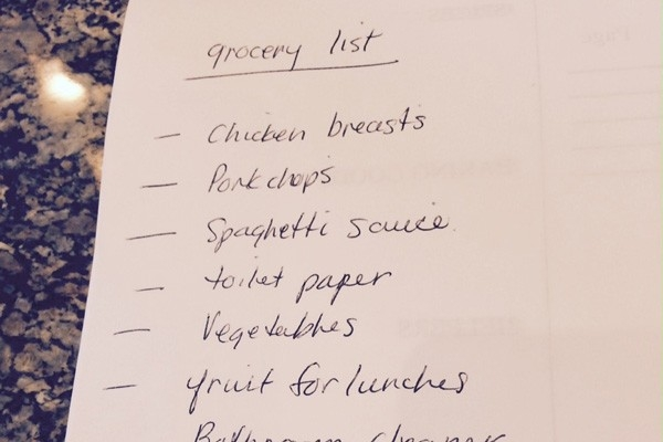 A Grocery List That Saves You Time And Money (Part 2) - Cityline with Handwritten Grocery List 22854