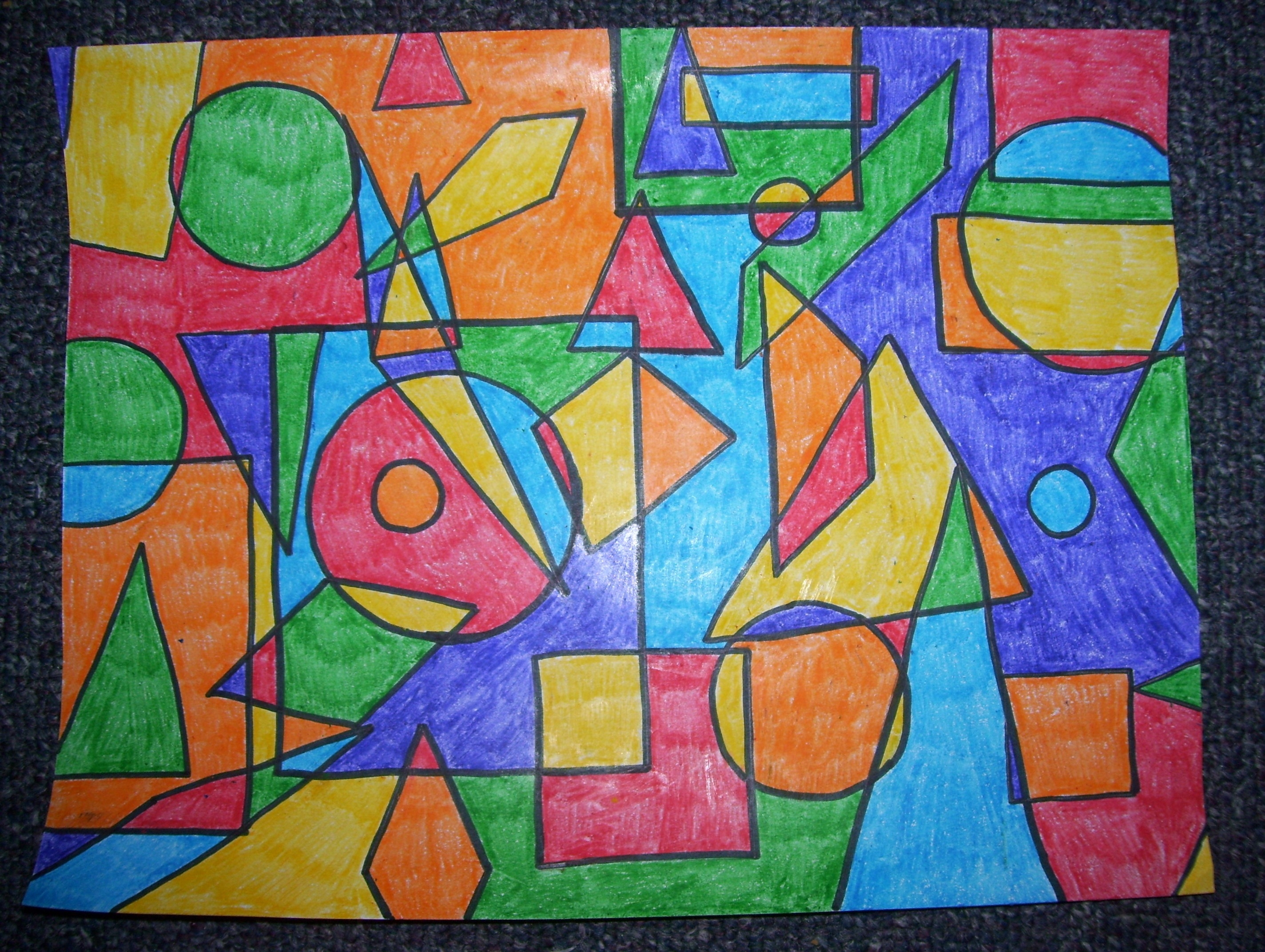 A Nice Example Of Art Drawn With Shapes | Lines And Shapes inside Example Of Shape In Art 23907