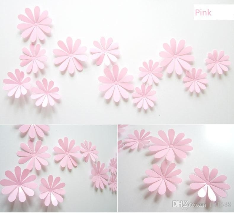 A Set Daisy Flower Wall Stickers Diy Removable Pvc 3D Flower in 3D Flower Stickers 19362