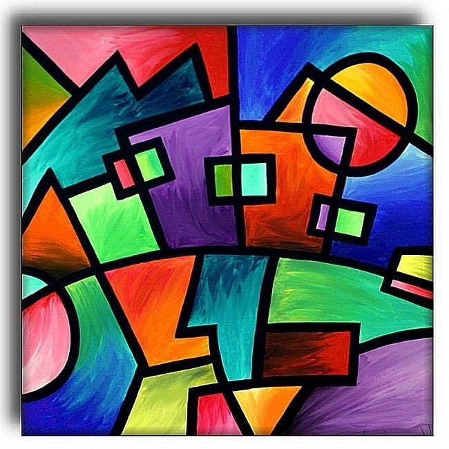 Abstract Art With Shapes - Nuestro Art throughout Geometric Shape Art 24089