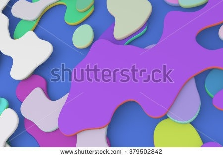 Abstract Colorful Background Organic Shapes 3D Stock Illustration for 3D Organic Shapes 19523