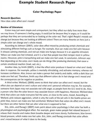 Academic Research Paper Template - Fieldstation.co for Research Essay Example 21231