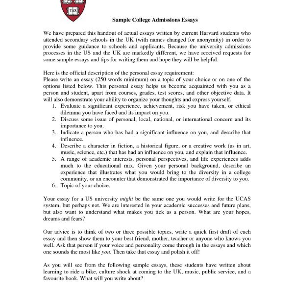 Admissions Essay Format Asafonggecco Throughout College