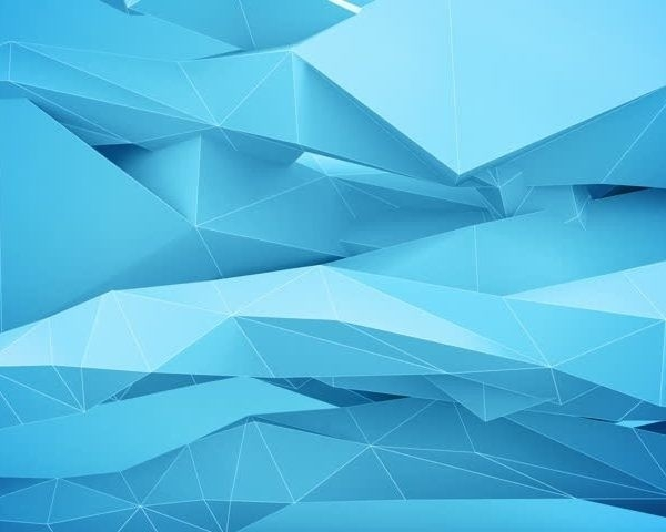 Adstract Geometric Shapes In Motion. Blue. Stock Footage Video throughout Geometric Shapes Design Blue 24503