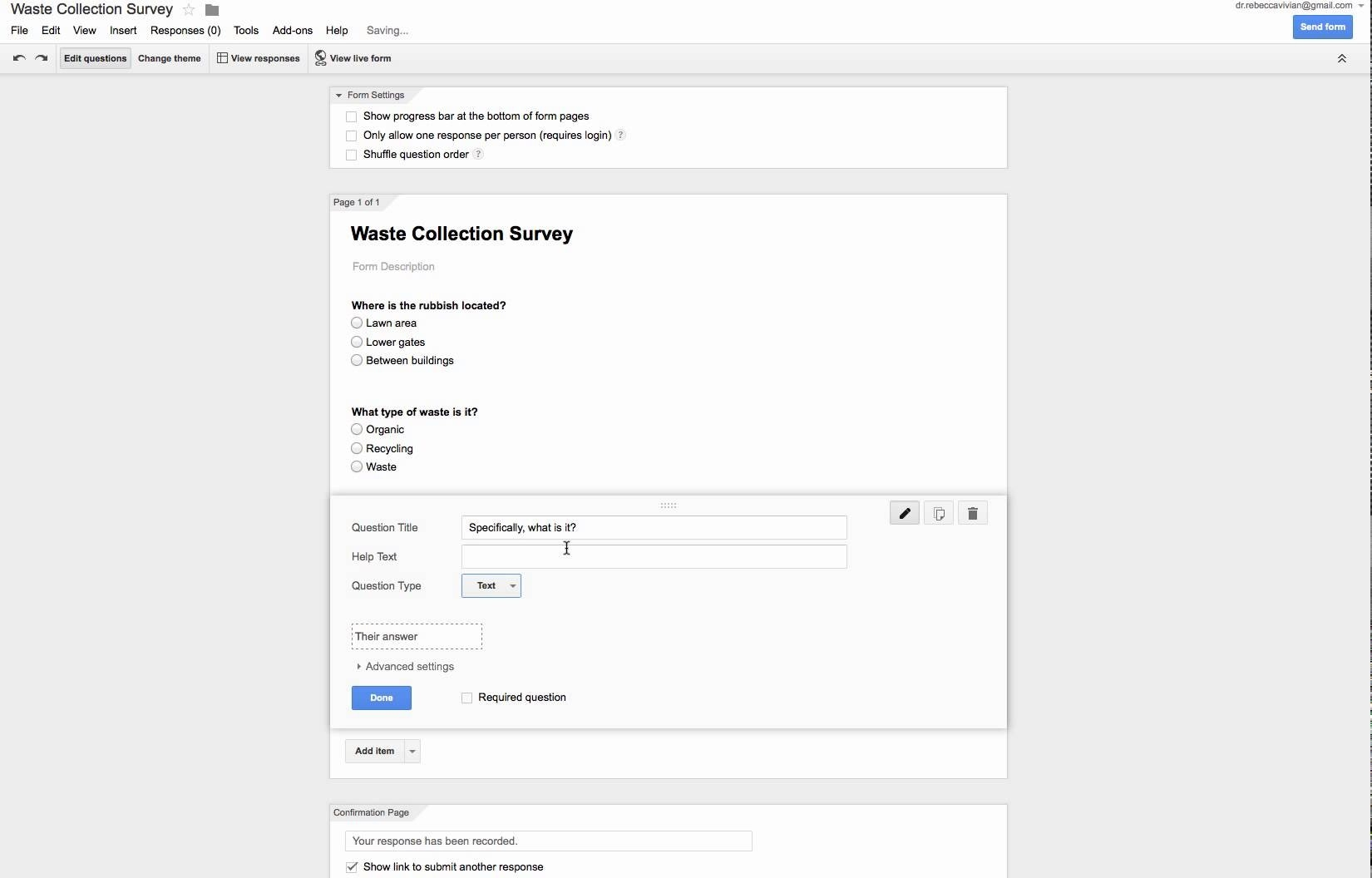 An Example Of Using Google Forms For Data Collection - Youtube regarding Google Forms Examples 24673