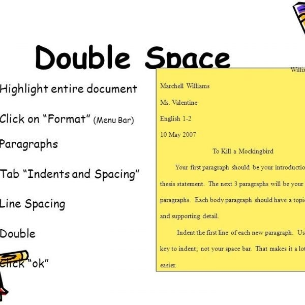 Mla style double space essay format