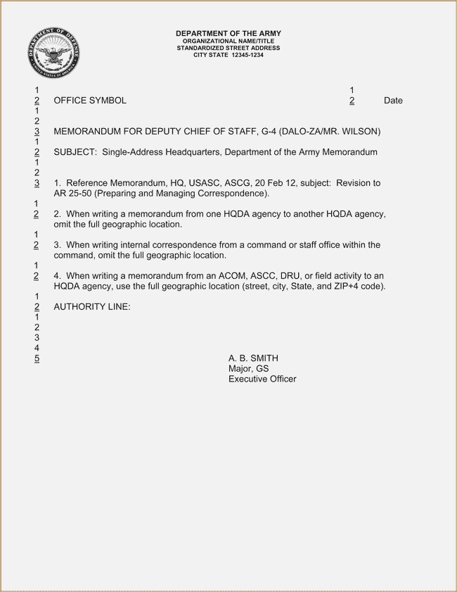 Army Memorandum For Record – Globaltrader.co throughout Memorandum Format Army 22965