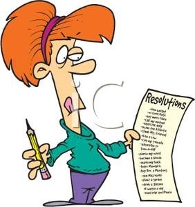 Art Image: A Woman Writing A List Of New Years Resolutions with regard to Writing A List Clipart 20318