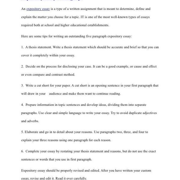 Awesome Collection Of Thesis Statement Examples For Expository Inside Thesis  Statement Examples Expository Essay
