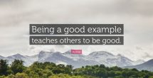 Being A Good Example To Others