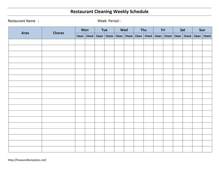 Best 25+ Cleaning Schedule Templates Ideas On Pinterest | Weekly with regard to Blank Cleaning Checklist Template 19141
