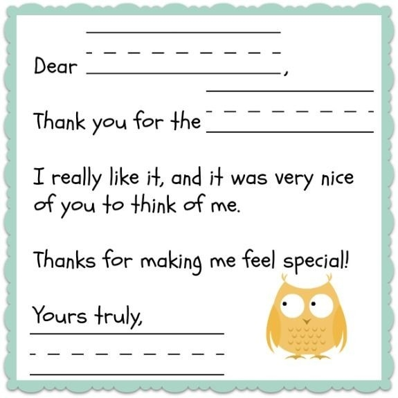 Best 25+ Thank You Note Template Ideas On Pinterest | Thank You in Thank You Letter Format For Kids 20931
