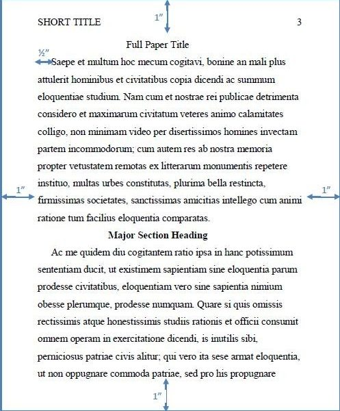 best photos of apa paragraph example apa style paper format for