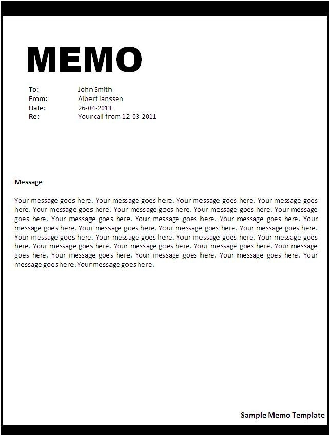 Business Memo Format Microsoft Word  Examples And Forms