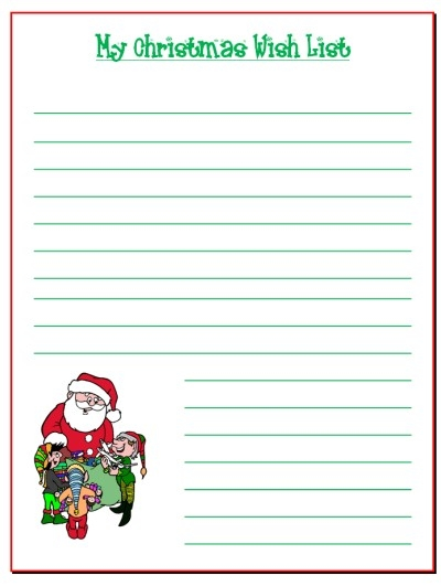 Best Photos Of Wish List Printable Template - Birthday Wish List in Free Printable Christmas List Template 24313